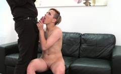 Fake Agent Short haired tattoo babe banged hard