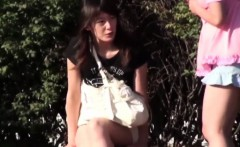 Asian teen watched peeing