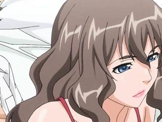 Hot anime milf dildoing and fucking