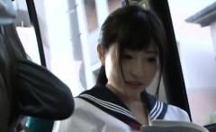 Horny passenger manhandles sexy playgirl in public