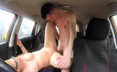 Fake Driving School Learners nerves by fucking hot blonde