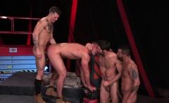 Kinky knob jockeys have hardcore foursome fuck session