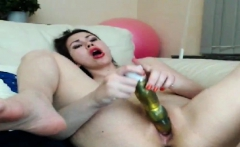 Small Tit MILF Fucks On Webcam
