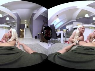 Busty blonde Stepmom Blanche Bradburry catches her