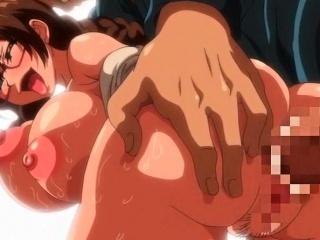 Lascive anime slut with huge tits