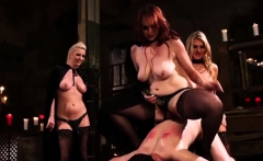 Aiden Starr and Friends Pegging Sub Dude
