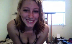 Tiny college teen webcam striptease perfection