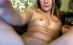 Beautiful small breasted blonde toys her pussy in the bath