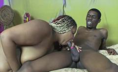 Black slut gets a big black cock