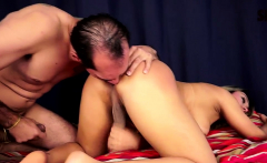 Busty Tranny Sprays Cum While Getting Fucked