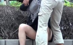 Japanese babe pisses pov