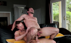Ripped hunk bouncing on hard cock