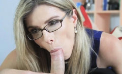Milf stepmom Cory wildly bangs with Brick