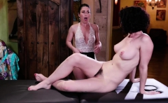 Horny Serena gives hot Olive a sensual massage lesbian fuck