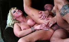 Seductive blonde screams while he fucks her