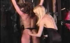 Dyke Femdom Spanks And Whips Her Restrained Submissive