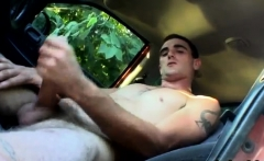 Small boy ass gay porn Pissing into a puddle and then jerkin