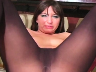 Amazing solo cutie fingers horny pussy throughout pantyhose