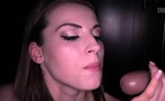 Hot amateur bukkake and swallow