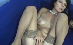 Sexy Milf in Stockings Fingering Herself