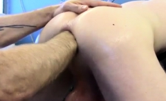 Straight guy fisting and gay First Time Saline Injection for