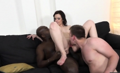 Her ass makes a black dick disappear