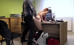LOAN4K. Red-haired woman with impressive forms...