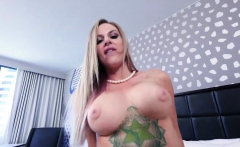 Horny step momma ride her pussy on top