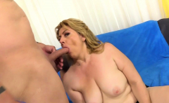Granny Penny Sue Drilled by a Long Cock