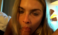 You cream onto Hanna Hawthorne's pretty face (POV Style)
