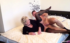 GERMAN STEP SON CAUGHT MOTHER masturbate and help with Fuck