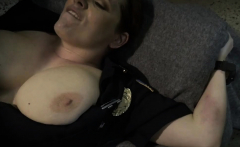 Big tits brunette cops banging in a threesome