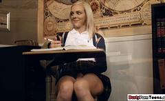 Hot schoolgirl fucking her teacher