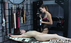 Extreme slavery clip with gal obeying the dirty play