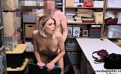 Shoplifter Emma Hix gets her pussy owned by a LP Officer