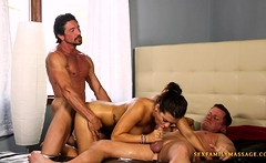 All she wants is be fucked by her two daddys