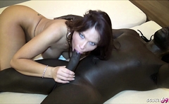 DEEP ANAL by Black Monster Cock for Redhead Mature Syren