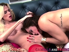 Sexy Shemale Enjoys Pussy Fucking A Lot