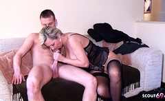 Young Boy Seduce German Mature Bi jenny to Fuck at Work
