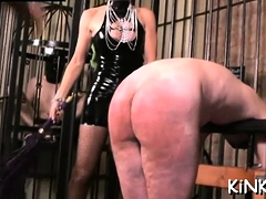 Mean Mistress Ties Up Villein And Plays With His Booty