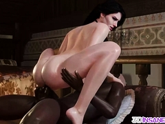 Perfect 3d Brunette Rammed By Huge Bbc