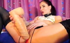 Masturbation Porno Show With Lusty Amateur Hottie