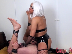 Sexy Shemale Makes Him Suck Her Cock