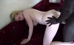 Saggy Tits College Teen Interracial BBC Threesome German