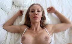 Hot Smoking mom takes her stepson into her bedroom