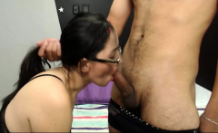 Young nieces lick grandpa dick and give double blowjob