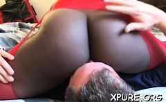 Powerless boy gets smothered and dominated by a cutie