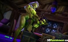 Sexy ass Warcraft gnome fucked by futanari dick