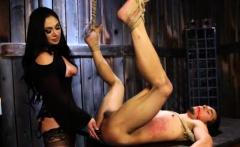 Tied Slave Boy Gets Pegged