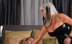 Mature blonde with huge tits fucked real hard